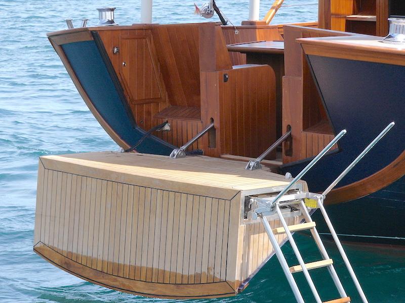 Heck der Yacht