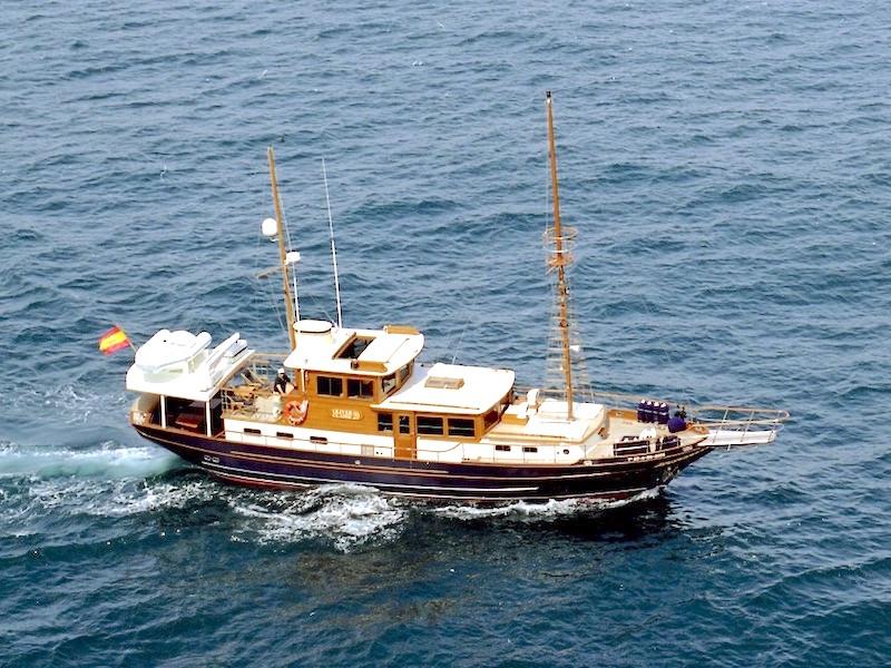 Yacht in Fahrt