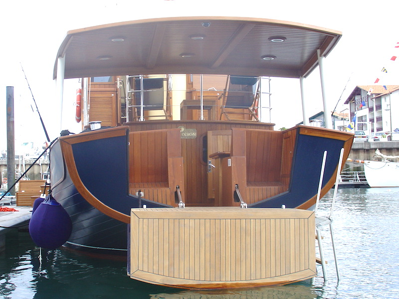 20m Motoryacht Hydraulik Heck